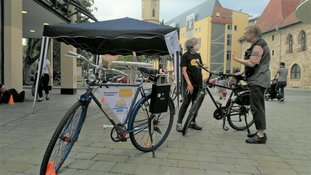 Infostand in der Jenaer Innenstadt